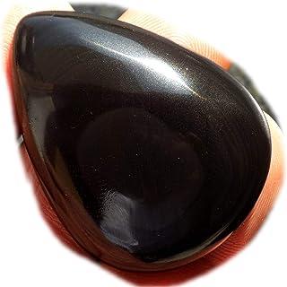 RASIO Cabujón de obsidiana arco iris negro, piedra preciosa semipreciosa natural, 72 quilates forma ovalada 41x27x9mm, K-0...