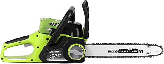 Earthwise LCS34014 14-Inch 40-Volt Cordless Electric Chainsaw, 2Ah Battery & Charger Included