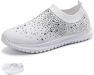 Women's Crystal Breathable Orthopedic Slip On Walking...