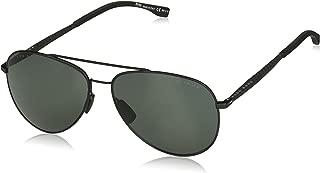 BOSS by Hugo Boss Men's Boss 0938/s Polarized Aviator Sunglasses, GRNPK OPL, 59 mm