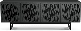 BDI 8779 WH-ME-CRL Elements Quad Cabinet with Media Base, Wheat Doors, Charcoal Stained Ash