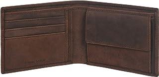 Eono by Amazon - Cartera de Cuero para Mujer y Hombre con diseño Plano y protección contra Lectura RFID (Cuero marrón Vint...