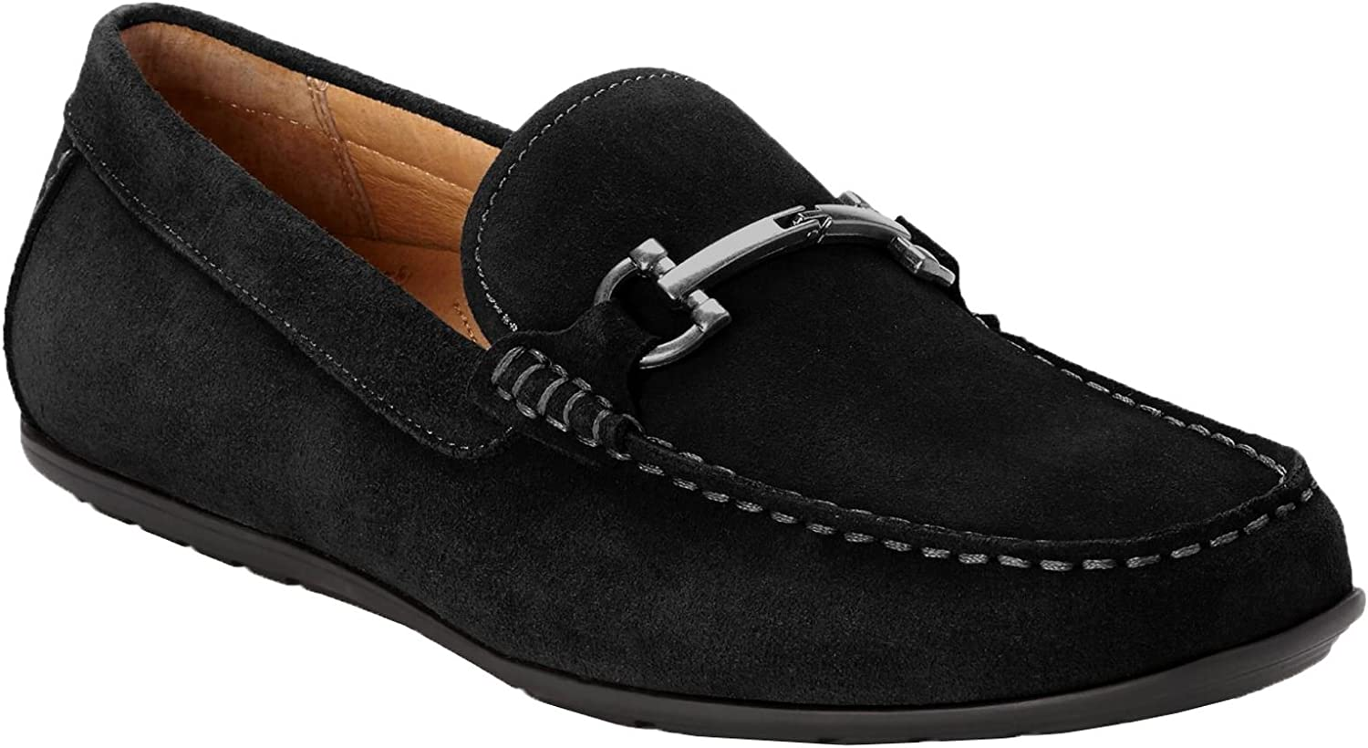 Vionic Men s Mercer Mason Driving Moccasins   Suede Loafer for Men with Concealed Orthotic Support  Black 8M