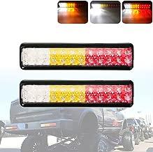 PSEQT 24 LED Trailer Truck Taillight integration Stop Turn Signal Brake Tail Reverse Backup Light