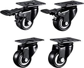 Zwaar uitgevoerde zwenkwielen Rubberen zwenkwiel Diameter 63 mm voor meubelwagen Stille zwenkwielen Laadvermogen 40 kg Elk...