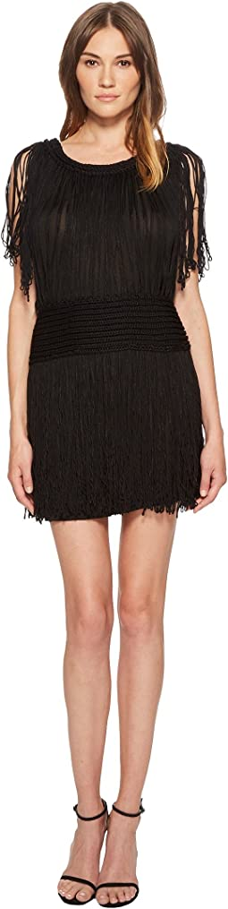 Shinny Fringe Knit Dress