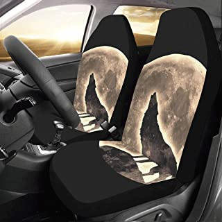 Car Seats & Accessories set Of 2 Front Monkey Hold Yellow Banana Fruit Custom New Universal Fit Auto Drive Car Seat Covers Protector For Women Automobile Jeep Truck Suv Vehicle Full Set Accessories For Adult Baby