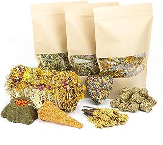 Mr. Crumble Dried Pet Food XXL Struktur-Futter-Set getreidefrei für Kaninchen, Meerschweinchen, Degus und andere Nager mit Heu und Leckerlies