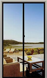 MAGZO Screen Door Magnets 34 x 82, Durable Fiberglass Door Mesh with Full Frame Hook&Loop for Back Door Fits Door Size up to 34