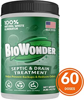 BioWonder Septic Tank Treatment - 3X More Powerful Performance - 100% Organic Enzymes & Bacteria - Perfect for Septic System, RV, Drains, Grease Trap, Toilets, Boat (2 lbs)