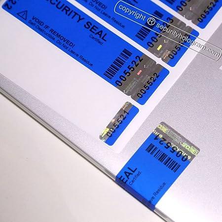 70 Hologram Sticker 30mm X10mm Security Seal Tamper Proof Void Label for sale online