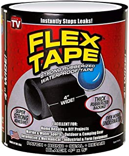 """Other Flex Tape Strong Rubberized Waterproof Seal Tape As Seen On TV, Multi-Color, 4"""" x 5'"""