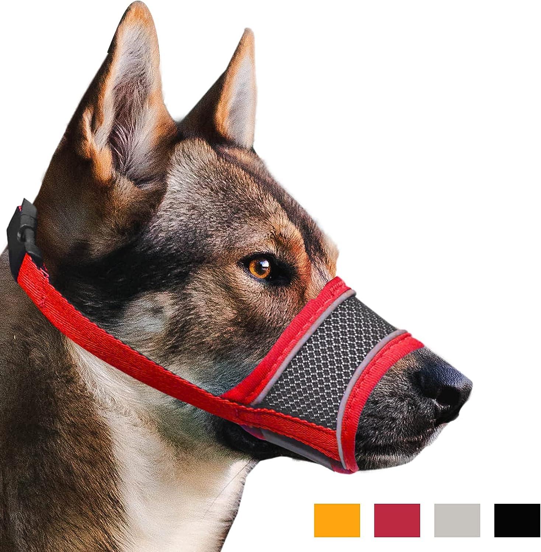 Dog Muzzle Reflective Soft Nylon Mesh to Brand Max 82% OFF new Preven Mouth Pet Cover