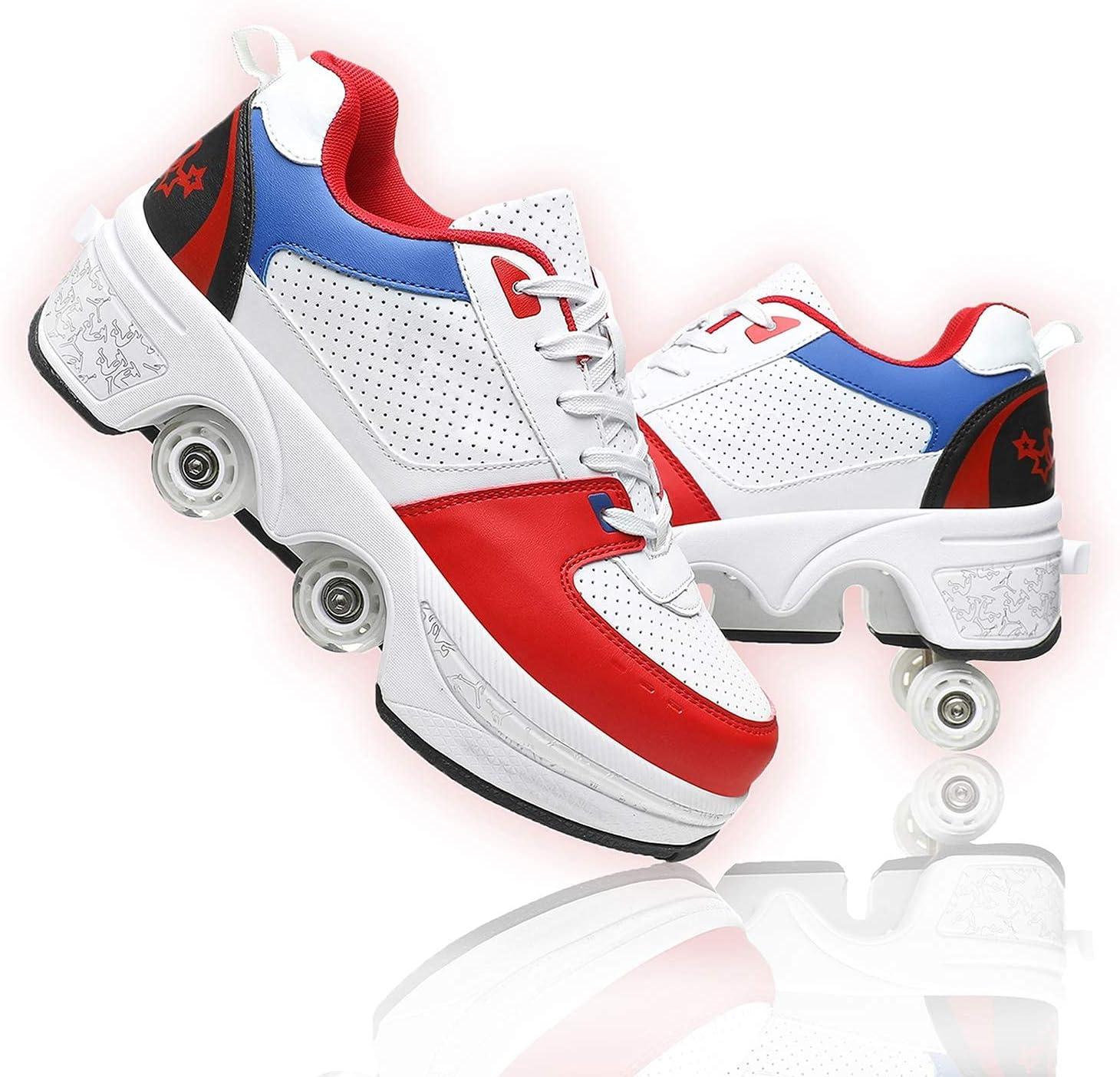 Genuine ZXMD 2-in-1 Roller Skates Automatic Walking De Deformation Overseas parallel import regular item Shoes