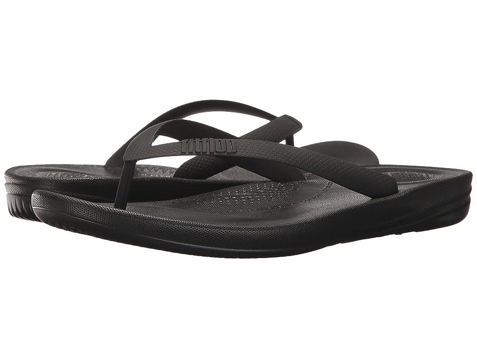 FitFlop Iqushion Ergonomic Flip-Flops (Black) Men