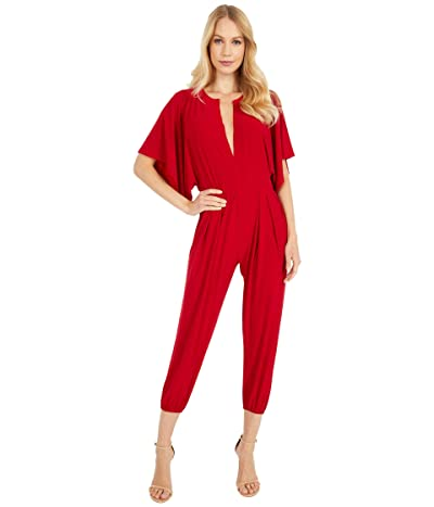 KAMALIKULTURE by Norma Kamali Rectangle Jog Jumpsuit (Red) Women