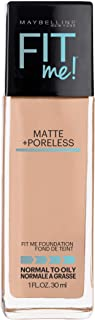 Maybelline Fit Me Matte + Poreless Liquid Foundation Makeup, Rich Tan, 1 fl. oz. Oil-Free Foundation