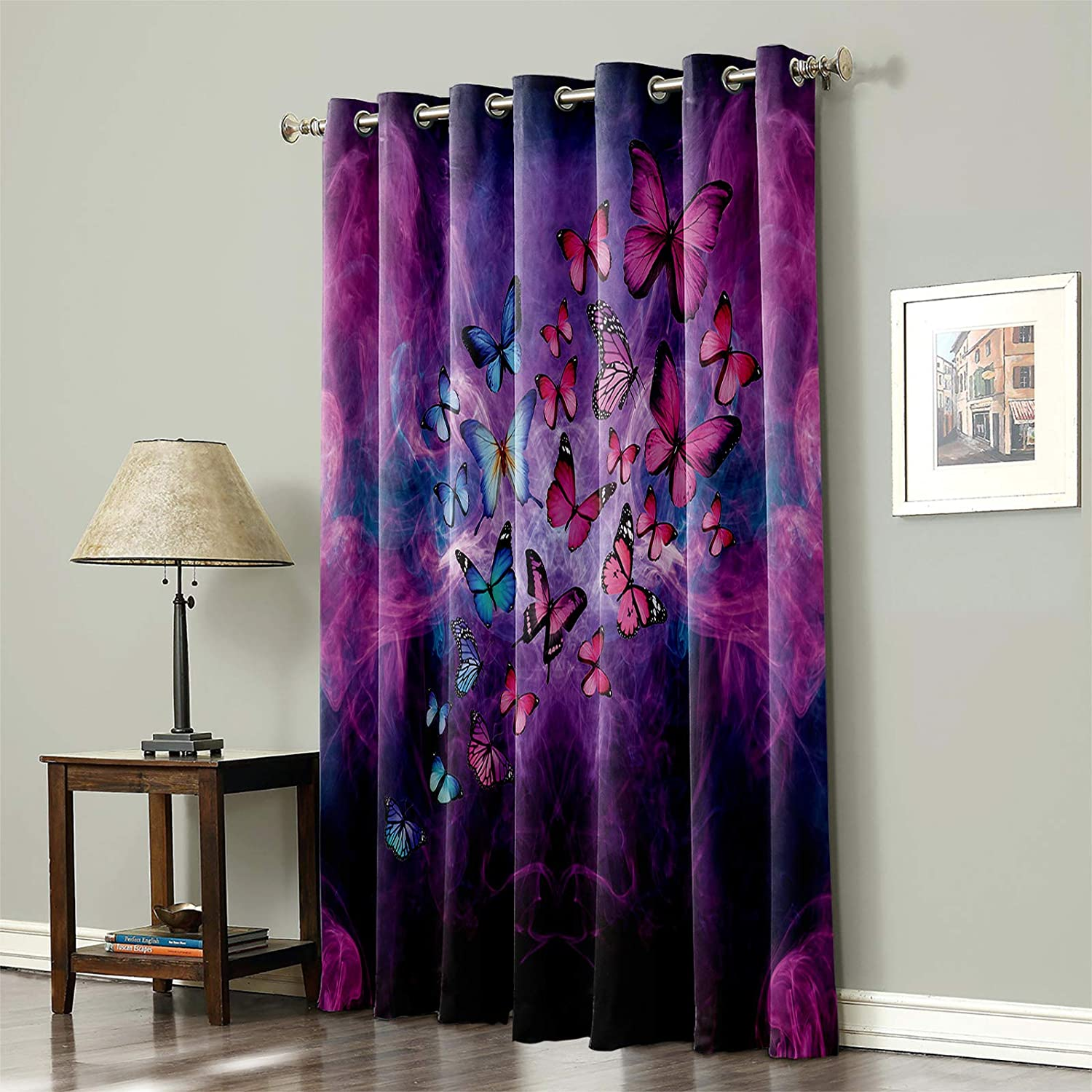 Libaoge Room Darkening Window Excellence Curtain Thermal Max 73% OFF Blackout Do Patio