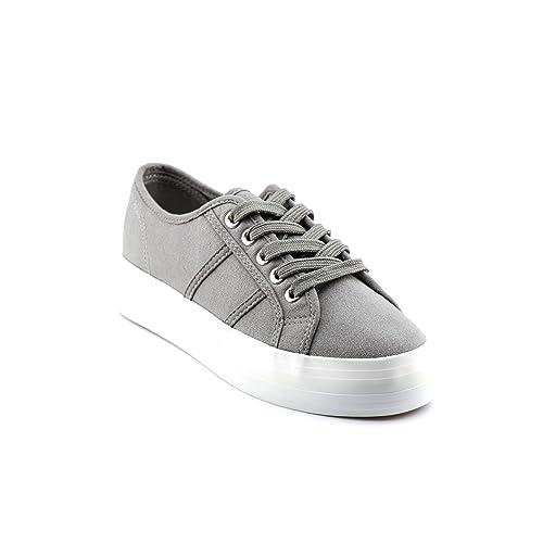 quality design 60114 c08f6 CALICO KIKI Women s Lace up Platform Fashion Sneakers - Casual Canvas  Walking Shoes - Easy Fashion