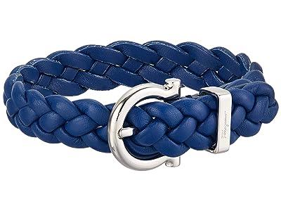 Salvatore Ferragamo Braided Triplait Bracelet 7701014 (Blue) Bracelet