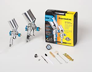 DeVilbiss 802342 StartingLine HVLP Automotive Spray Painting and Detail Spraying Kit