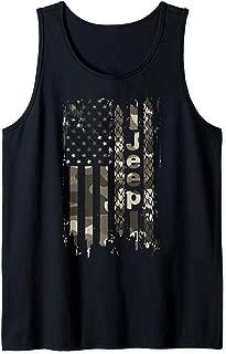 Jeep American Flag Shirt Jeep Camo Shirt Gifts for men women Tank Top