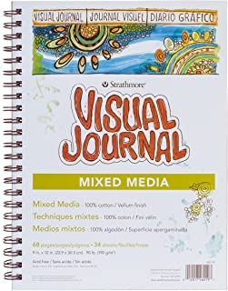 """Strathmore 400 Series Visual Watercolor Journal, White, 9 by 12"""""""