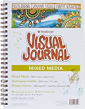 "Strathmore (460-19) 500 Series Visual Mixed Media Journal, Vellum, 9""x12"", 34 Sheets,White"