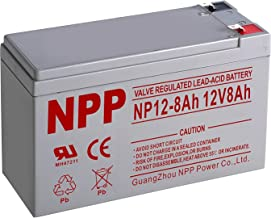 NPP 12V 8Ah 12Volt 8amp Rechargeable Sealed Lead Acid Battery for Home Alarm Security System Verizon FiOS Systems with F1