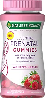 Nature's Bounty Optimal Solutions Essential Prenatal Gummies, 50 Count