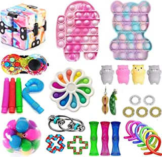 AM ANNA Sensory Fidget Toys Set,Simple Dimple Fidgets Toy for Kids Adults Stress Relief and Adult Anxiety Relief ADHD Auti...