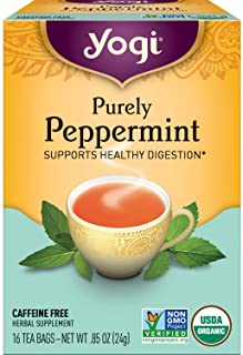 Yogi Tea - Purely Peppermint (6 Pack) - Supports Healthy Digestion - 96 Tea Bags