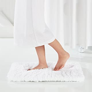 Genteele Non-Slip Memory Foam Shaggy Bathroom Mat, Water Absorbent, Super Plush Bath Mat, Washable Bathroom Rug (21