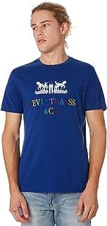 Levi's Men's Two Horse Graphic Mens Tee Crew Neck Short Sleeve Cotton Blue