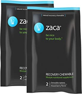 Zaca Recovery Chewable Supplement | Remedy for Hangovers, Exercise, Travel & Altitude | Vegan & Gluten Free | Mixed Berry, 2 Packs = 4 Tablets