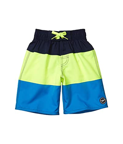 Speedo Kids Blocked Volley Shorts (Little Kids/Big Kids) (Blue/Lemonade) Boy