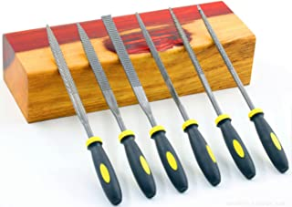 DS-Space Mini Needle File Set, Wood Rasp File Set with Rubber Handle, Bastard files for Wood and Soft Stuffs Carving (Wood Rasp, Mini)