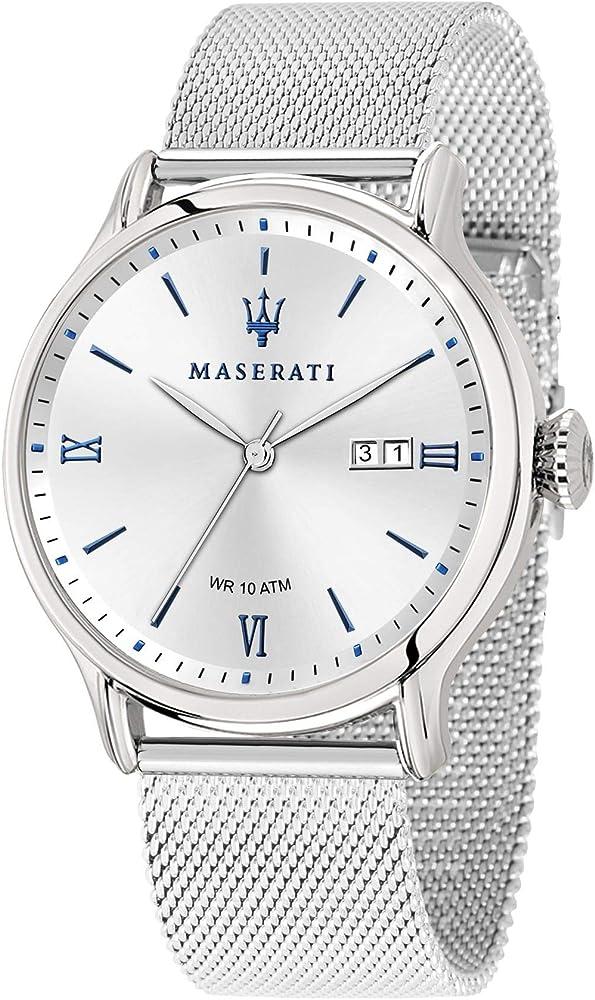 Maserati orologio da uomo, collezione epoca, in acciaio inossidabile 8033288813637