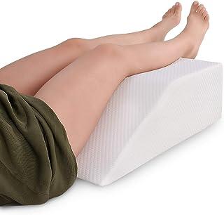 METRON-(Medium-Size) Orthopedic Elevating Memory Foam Soft Leg Rest Wedge Pillow - Reduces Back Pain & Improves Circulatio...