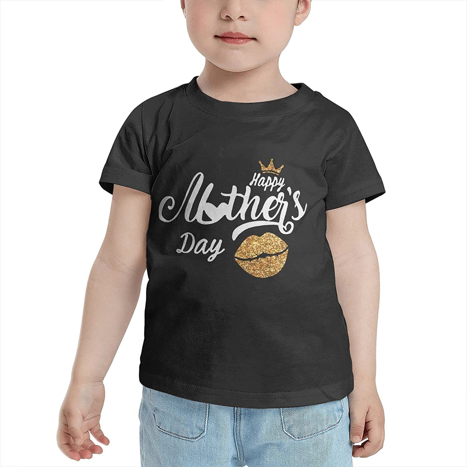 Happy Mother Day (2) T-Shirts Novelty for Girls Tees with Cool Designs