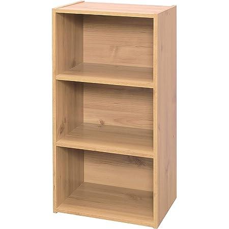 Marque Amazon - Movian 531523 Étagère de rangement modulable 3 casiers en bois MDF, Engineered Wood, Chêne Clair, MDB-3