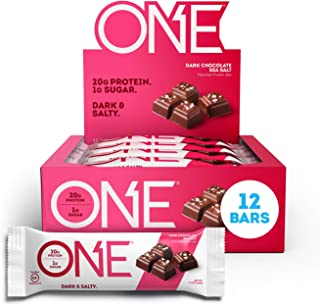 Sponsored Ad - ONE Protein Bars, Dark Chocolate Sea Salt, Gluten Free Protein Bars with 20g Protein and only 1g Sugar, Gui...