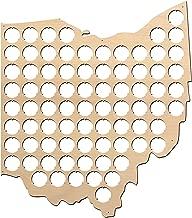 Ohio Beer Cap Map - 14x16 inches - 77 caps - Beer Cap Holder Ohio - Birch Plywood …