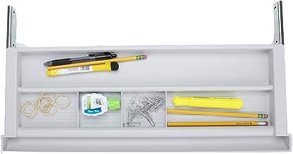 Mind Reader KEYBCON-WHT Under Desk Storage Tray For Office Supplies, Ergonomic Computer Platform, Adjustable Drawer Organi...