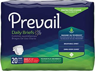 Prevail Adult Incontinence Briefs, Medium Heavy Absorbency, 20 Count
