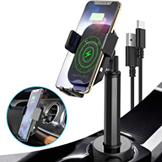 Wireless Car Charger, Squish 2-in-1 Universal Cell Phone Holder Cup Holder Phone Mount Car Air Vent Holder for iPhone, Sam...