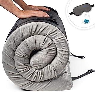Zermätte Memory Foam Roll Up Mattress Floor Bed - Camping Mattress/Travel Bed/Portable Guest Sleeping Mat/Cot Pad-with Wat...
