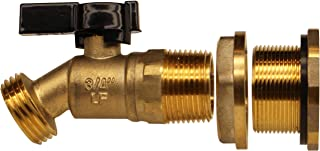RAINPAL Brass Rain Barrel Quarter Turn Ball Valve Spigot with Bulkhead Fitting