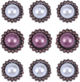 Artibetter 20pcs papier attaches métal scrapbooking métal brad vintage attaches perle ronde pour bricolage artisanat scrap...