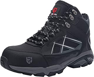 LARNMERN Steel Toe Cap Safety Work Shoes High S1P SRC ESD Protective Breathable Trainer Lightweight Boots Industrial Const...